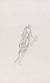 Frederick Sommer Untitled, c. 1959 Pencil drawing on paper. 14 x 8 1/2 inches