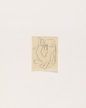 Frederick Sommer Untitled, 1932 Crayon drawing on paper. 3 9/16 x 2 3/4 inches