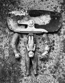Valise d'Adam, 1949 Gelatin silver print mounted to board. 7 5/16 x 9 5/16 inches
