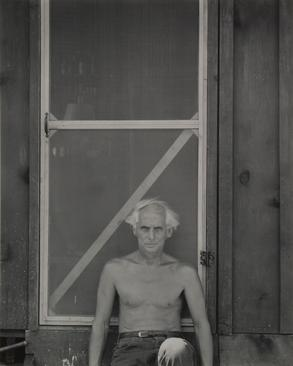 Frederick Sommer Max Ernst in Sedona, 1946 Gelatin silver print mounted to board, printed c. 1960s. 9 7/16 x 7 9/16 inches