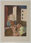 George Grosz People Are Basically Good, 1919 Color offset print on cream Velin paper. 10 3/4 x 7 7/8 inches