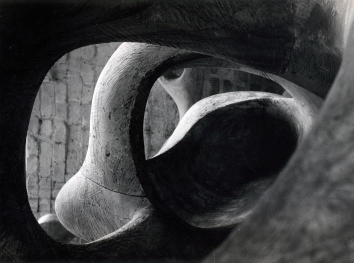 Detail of Reclining Figure (Internal and External Forms), 1953 Gelatin silver print, printed c. 1953 9 1/2 x 7 1/4 inches