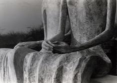 Detail of Two Seated Figures (King & Queen), 1953 Gelatin silver print, printed c. 1953 7 1/4 x 9 3/4 inches