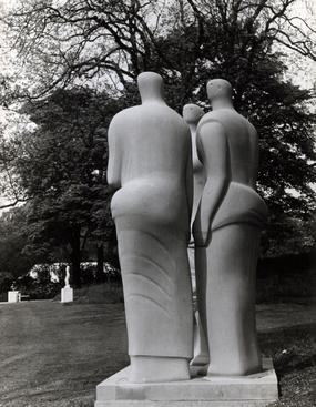 Three Standing Figures, 1947-48 Gelatin silver print, printed c. 1947-48 10 1/4 x 8 inches