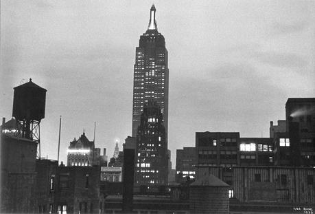 Ilse Bing Empire State Building at Night, New York, 1936 Gelatin silver print mounted to board, printed c. 1936. 7 1/2 x 11 1/8 inches