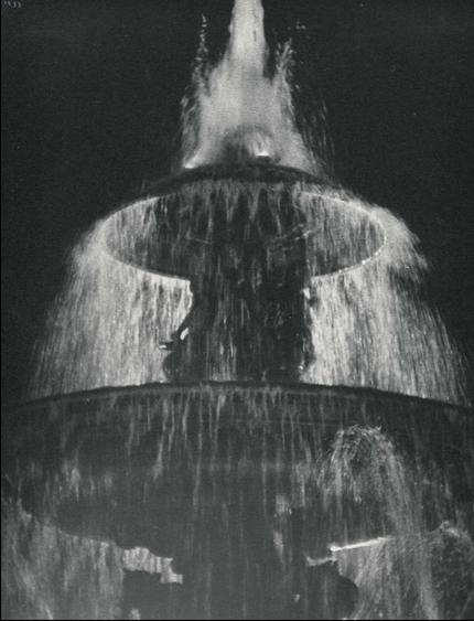 Ilse Bing Fountain at Night, Place de la Concorde, 1933 Gelatin silver print, printed c. 1933. 11 x 8 3/4 inches