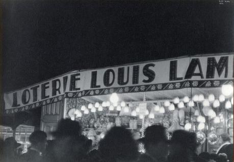 Ilse Bing Paris Street Fair, 1933 Gelatin silver print mounted to board, printed c. 1933. 7 3/4 x 11 inches
