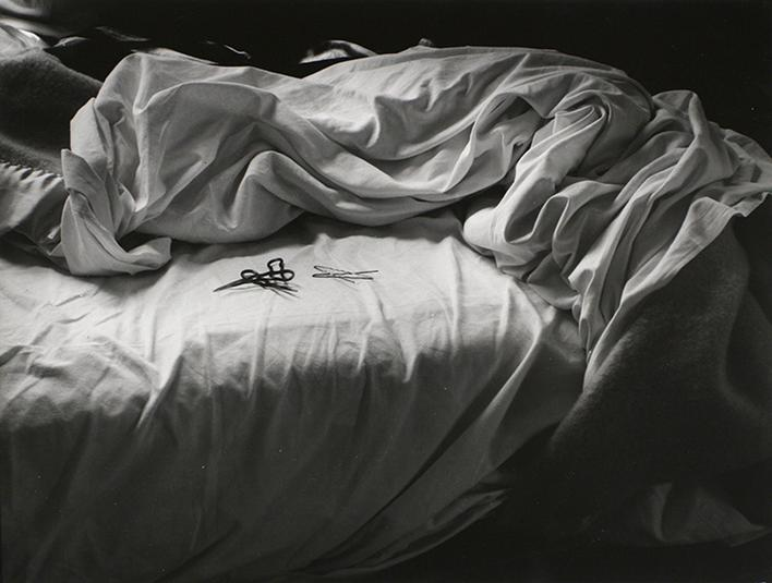 The Unmade Bed, 1957 Gelatin silver print mounted to board, printed c. 1957 8 5/8 x 11 1/2 inches