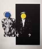 Blue Boy (with Yellow Boy: One with Hawaiian Tie, One in Dark), 1989 Color lithograph 22 7/8 x 19 1/4 inches