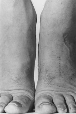 Feet Frontal, 1984 Gelatin silver print mounted to board, printed c. 1999 60 x 40 inches
