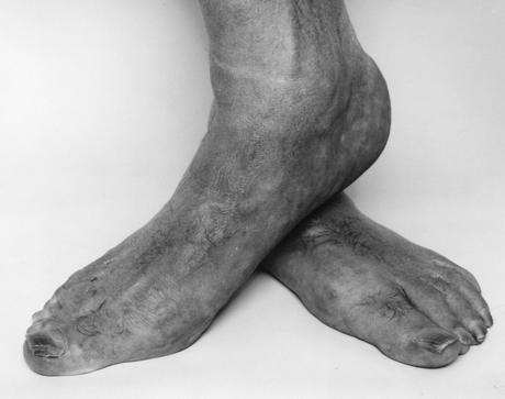 Self Portrait, Feet, Crossed, 1985 Gelatin silver print, printed c. 1985 16 x 20 inches