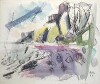 John Marin  Palisades, No. 2, 1922    Watercolor on paper. 16 x 19 inches