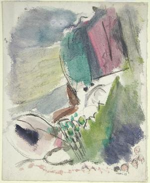 John Marin Palisades at Alpine, New Jersey, 1928    Watercolor on paper. 17 x 13 3/4 inches