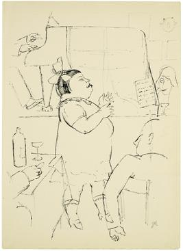 Jeanne Mammen The Fat Singer, c. 1935 Pen and ink on paper. 18 1/8 x 13 3/8 inches