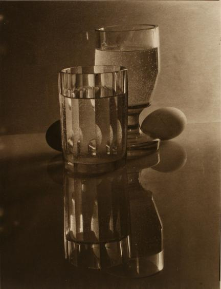 Glasses and Eggs, 1951 Pigment print, printed c. 1951 9 1/4 x 7 1/4 inches
