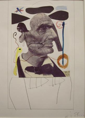 Joel-Peter Witkin Lincoln Looking at Miro, 2000 Mixed media collage