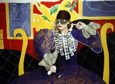 'The History of Hats In Art' for the New York Times, Matisse, Dior Glasses and Scarf, 2006 Chromogenic print 17 x 23 5/8 inches