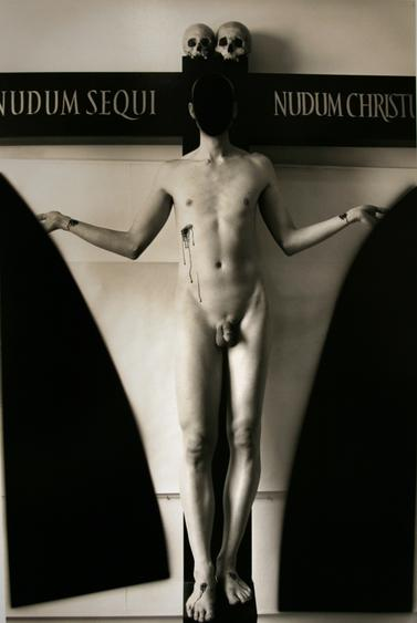 Naked Follow the Naked Christ, New York City, 2006 Gelatin silver print mounted to board 37 1/2 x 26 inches