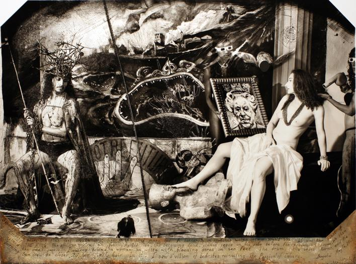 Apollo and Pilate's Wife, Bogota, 2008 Gelatin silver print mounted to board 28 1/2 x 37 1/4 inches