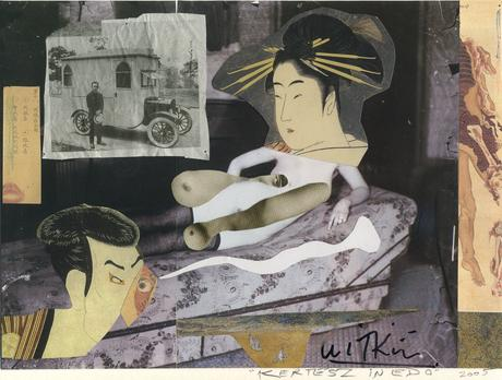 Kertesz in Edo (study), 2005 Collage and colored pencil 9 1/4 x 11 3/4 inches