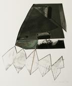 Landscape with Drawing, 1993 Gelatin silver print, graphite and watercolor mounted to board. 20 x 16 inches