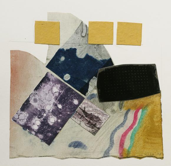 Untitled, 2005 Collage mounted to board. 20 x 16 inches