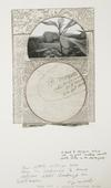 John Wood 500 lb Bomb Crater, c.1960s Gelatin silver print, graphite, Xerox, vellum, ink mounted to board 16 1/2 x 13 3/4 in.