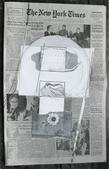 Feb 22 1976 NY Times, 1976 Collage with Xerox print mounted to board. 18 x 14 inches