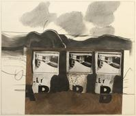 Pepsi x3, 1966 Photo collage, graphite drawing. 17 x 14 1/2 inches