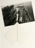 Maine Coast, 1981 Gelatin silver print and ink drawing mounted to paper. 20 x 15 in