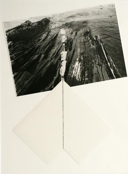 John Wood (1922-2012), Maine Coast, 1981 Mixed media collage, 20 x 15 in.