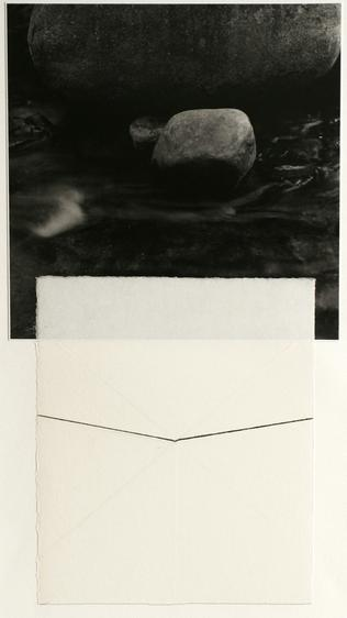 Untitled, 1981 Gelatin silver print and ink drawing mounted to paper. 20 x 15 inches
