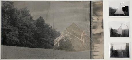 Landscape with Silk House, 1974 Photo collage. 22 1/8 x 27 1/2 inches
