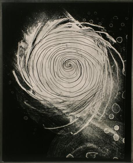 Untitled #2, from Nine Imaginary Oil Spills, 1995 Cliche verre, gelatin silver print, printed c. 1995. 24 x 20 inches
