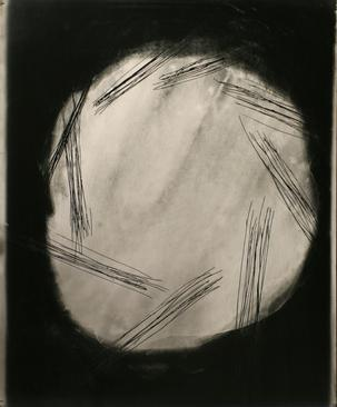 Untitled #6, from Nine Imaginary Oil Spills, 1995 Cliche verre, gelatin silver print, printed c. 1995. 24 x 20 inches