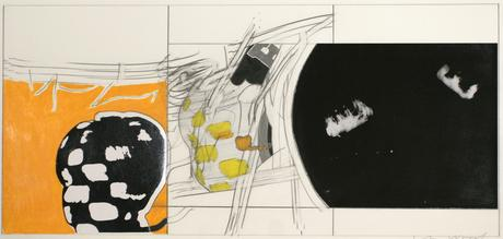 Head with Projection, c. 1960 Collage, photo, graphite. 10 x 21 inches