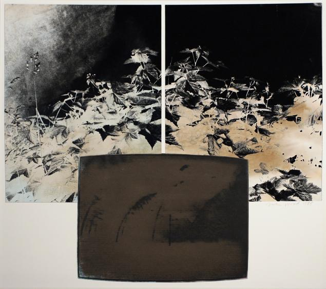 TV Landscape Series - Nuclear Explosion, 1985 Gelatin silver print, collage 15 1/2 x 18 3/8 inches