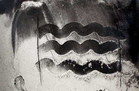 Beach Drawing, 1983 Gelatin silver print, printed c. 1983. 8 7/8 x 13 3/8 inches