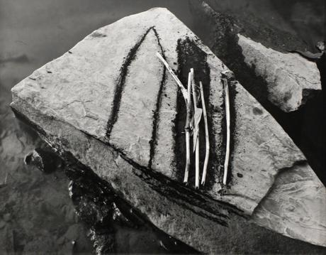 Untitled #2, from Fall Creek Rock Drawing Portfolio, 1987 Gelatin silver print, printed c. 1987. 11 1/2 x 14 3/8 inches