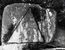 Untitled #3, from Fall Creek Rock Drawing Portfolio, 1987 Gelatin silver print, printed c. 1987. 11 1/2 x 14 1/2 inches