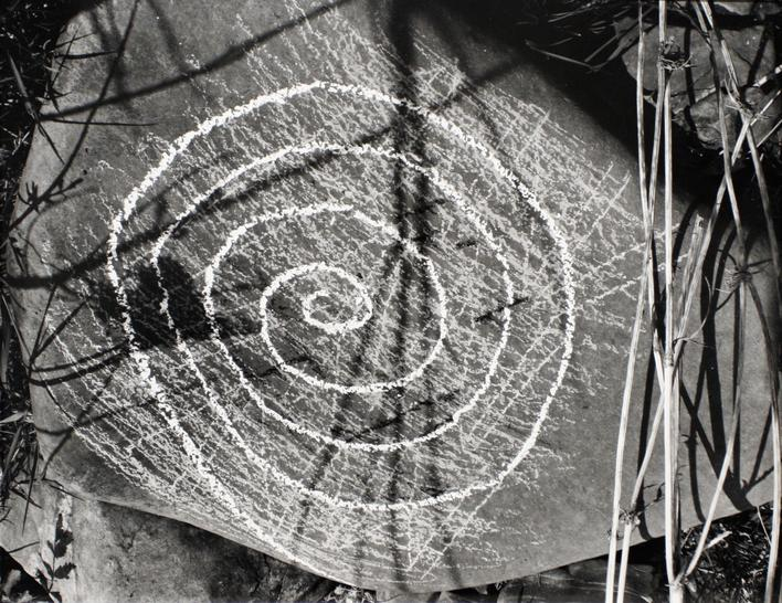 Untitled #6, from Fall Creek Rock Drawing Portfolio, 1987 Gelatin silver print, printed c. 1987. 11 1/2 x 14 1/2 inches