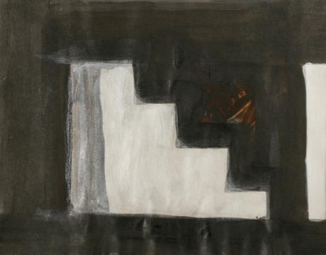 Baltimore Steps, 1994 Mixed media 13 x 16 1/2 inches