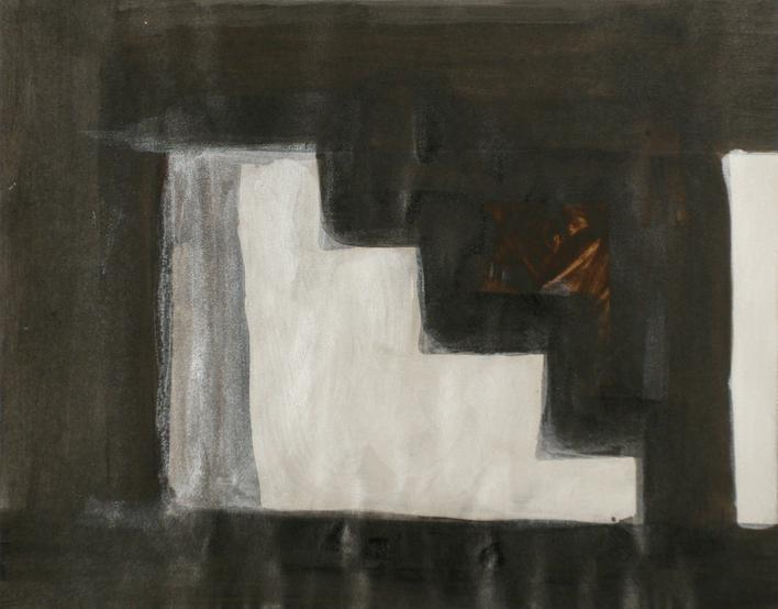 Baltimore Steps Drawing, 1994 Mixed media. 13 x 16 1/2 inches