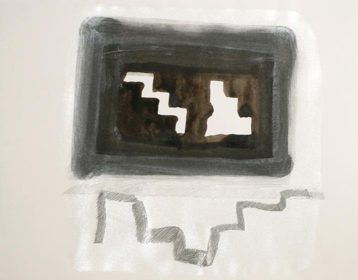 Baltimore Steps Drawing, 1994 Mixed media. 11 x 14 inches