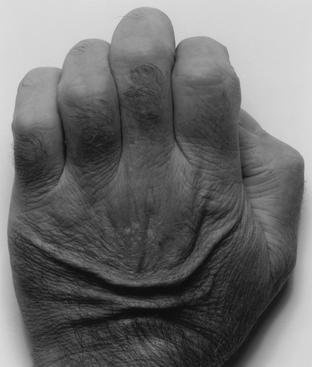 John Coplans (1920-2003) Back of Hand, No. 1, 1986     Gelatin silver print 29 x 34 in. (73.7 x 86.4 cm)