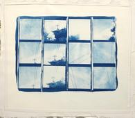 Keith A. Smith Fullerton, CA, 1970 Cyanotype with machine sewing, printed c. 1970