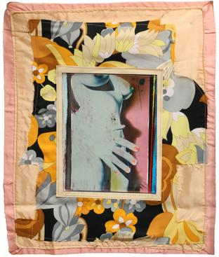 Keith Smith Untitled, 1971 Manipulated photo paper machine-sewn to cloth 18 x 21 inches (45.7 x 53.3 cm)