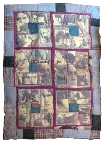 Keith Smith Untitled, 1980 Color prints heat transferred to quilted cloth 80 x 56 inches (203.2 x 142.2 cm)
