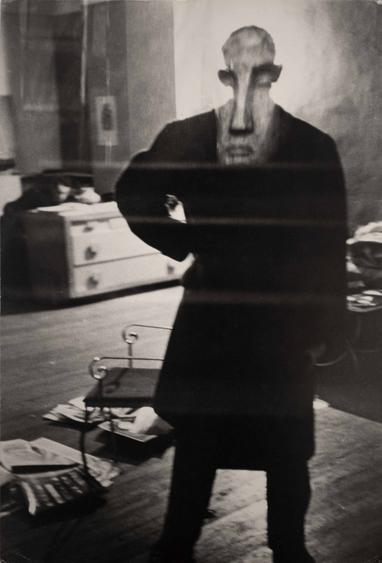 Louis Fauer George Barrows in Robert Frank's Loft, New York, 1949