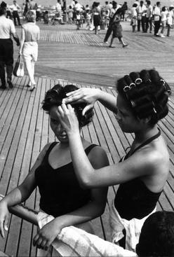 Black in White America, Coney Island, New York, 1963 Gelatin silver print, printed c.1963 5 1/2 x 3 7/8 inches